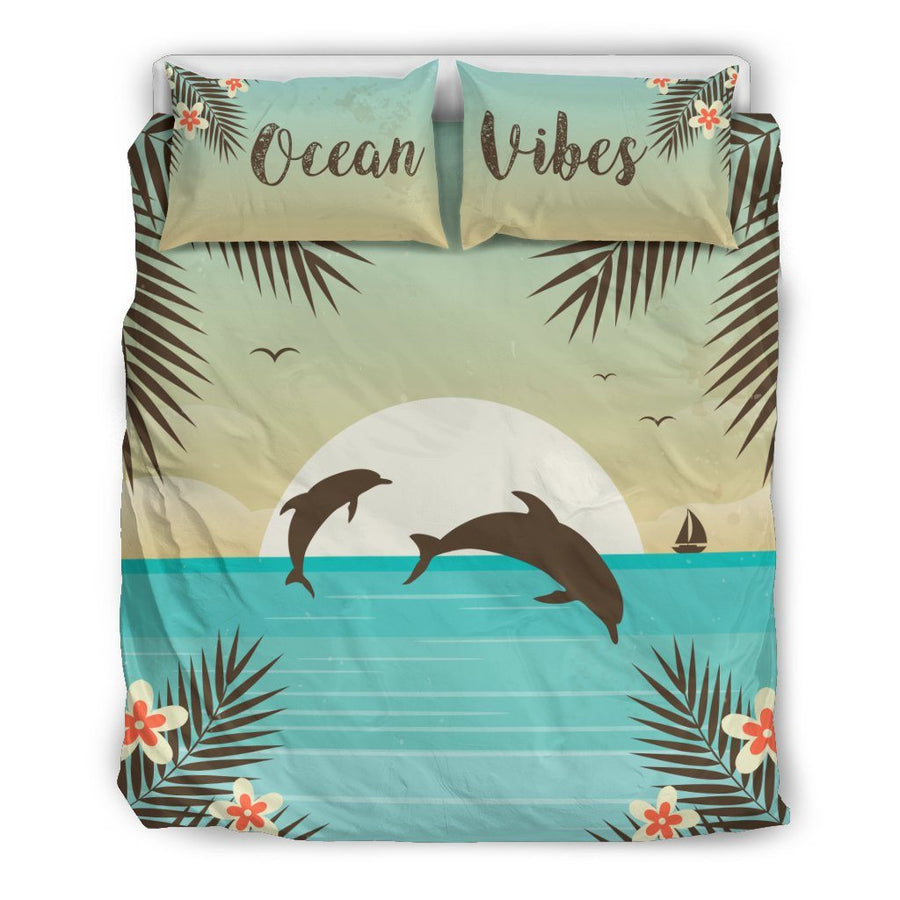 Ocean Vibes - Bedding Set - the ocean vibe Ocean Apparel