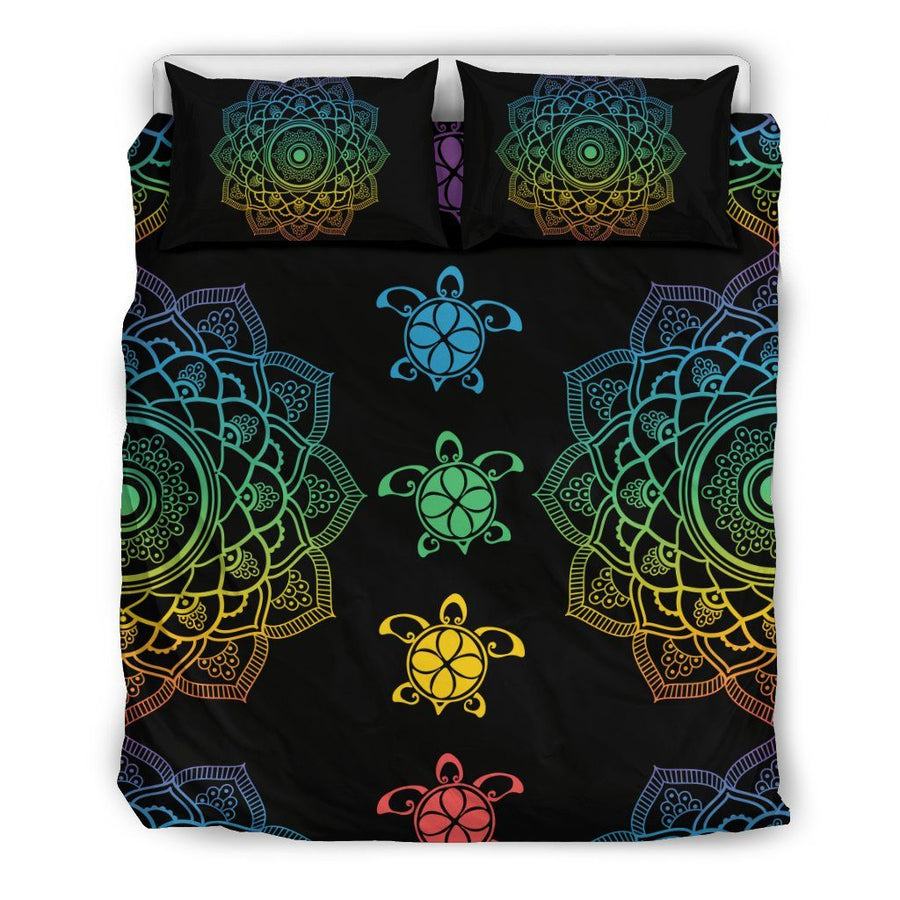 Sea Turtle Trip Colorful - Bedding Set - the ocean vibe Ocean Apparel