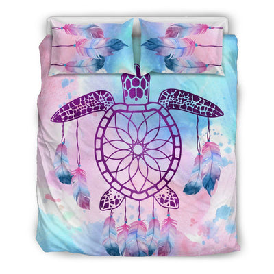Sea Turtle Dream Catcher - Bedding set - the ocean vibe Ocean Apparel