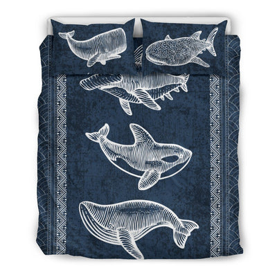 Awesome Marine Animals - Bedding Set - the ocean vibe Ocean Apparel