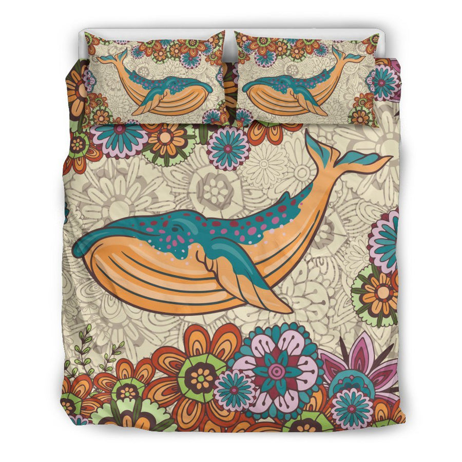 Zen Whale - Bedding Set - the ocean vibe Ocean Apparel