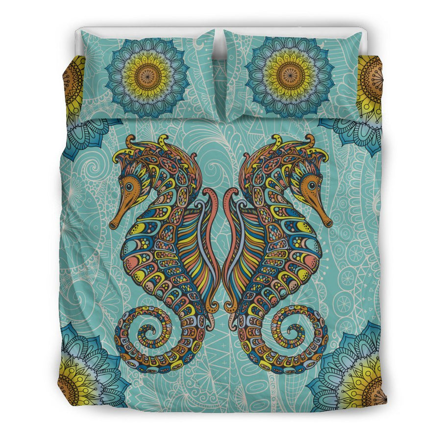 Seahorse zentangle - Bedding Set