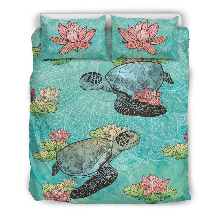 Lotus Sea Turtle - Bedding Set