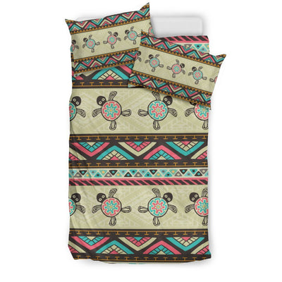 Ethnic Colorful Sea Turtle - Bedding Set - the ocean vibe Ocean Apparel