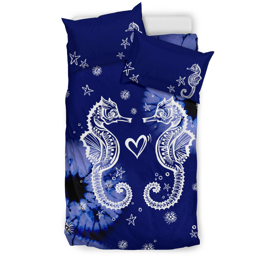 Midnight Seahorse- Bedding Set