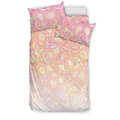 The Peach Paisley Whale - Bedding Set