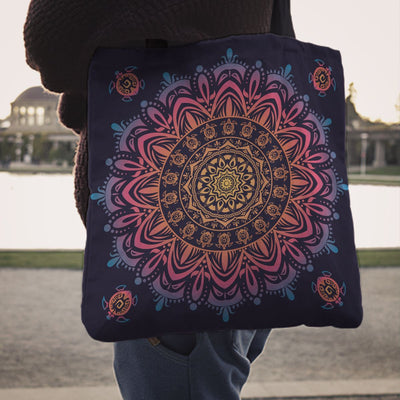 Beautiful Mandala Sea Turtle - Tote Bag - the ocean vibe Ocean Apparel