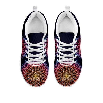 Beautiful Mandala Sea Turtle - Women's Sneakers - the ocean vibe Ocean Apparel