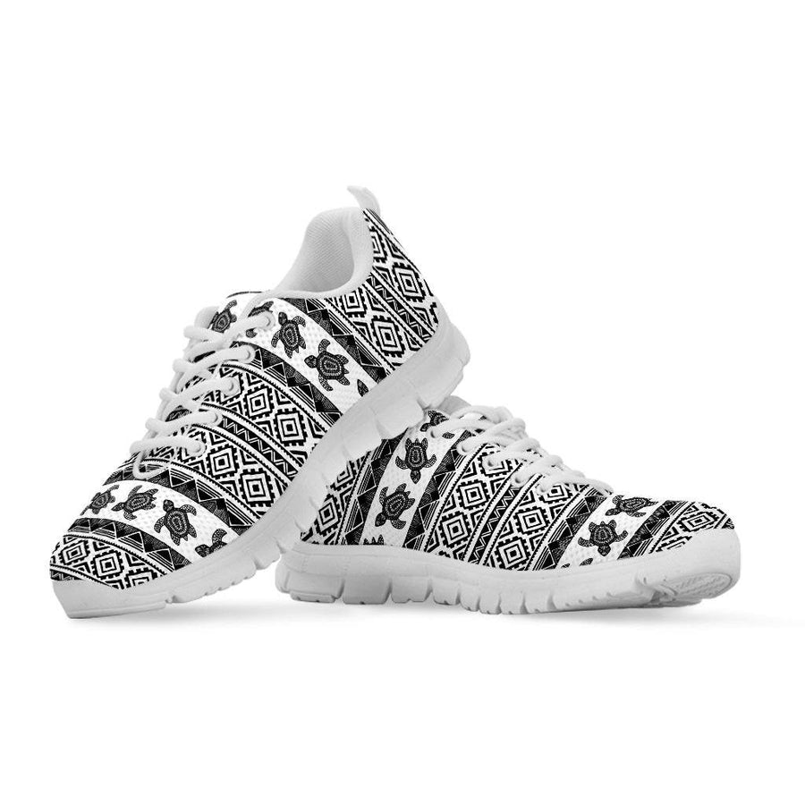 Ethnic Sea Turtle - Women's Sneakers - the ocean vibe Ocean Apparel