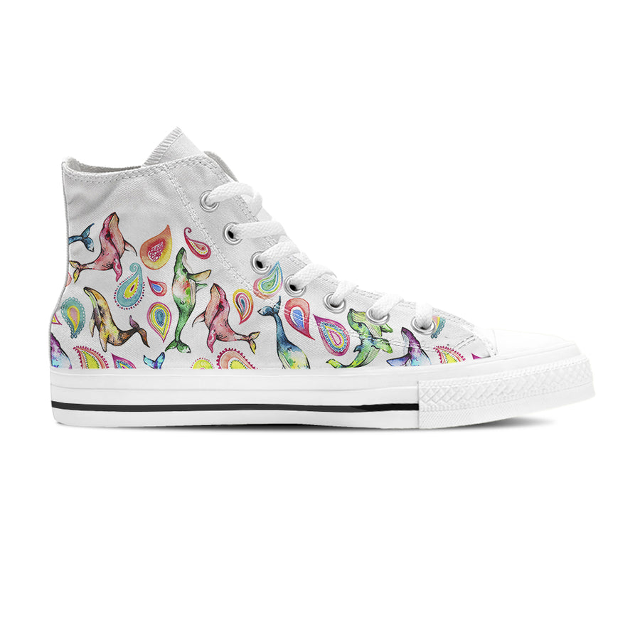 The Paisley Whale - Women's High Top