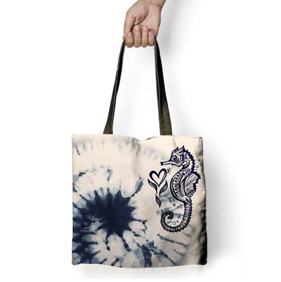 Midnight Seahorse - Tote Bag