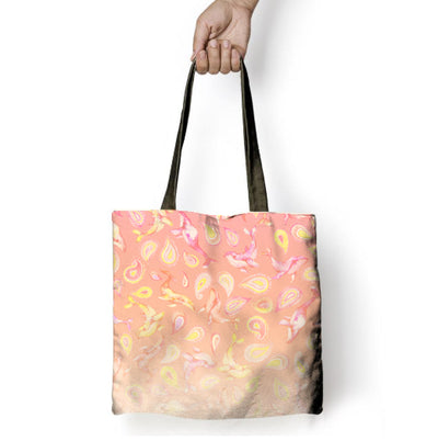 The Peach Paisley Whale - Tote Bag