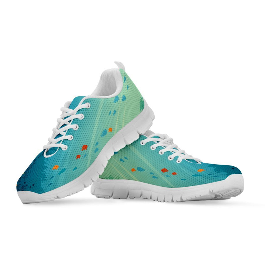 Underwater - Women's Sneakers - the ocean vibe Ocean Apparel