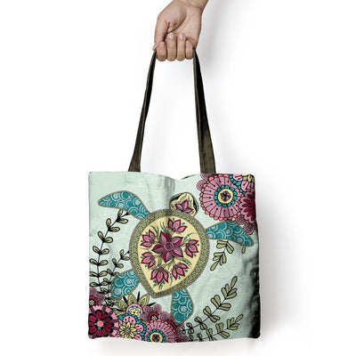 Zen Sea Turtle - Tote Bag - the ocean vibe Ocean Apparel
