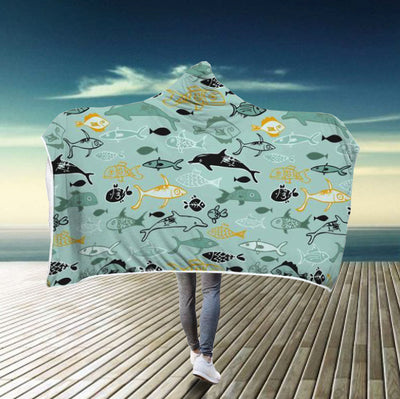 Dolphin Paradise - Hooded Blanket