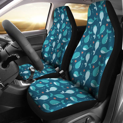 Cute Whales - Car Seat Covers - the ocean vibe Ocean Apparel