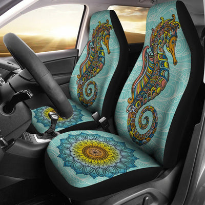 Seahorse Zentangle - Car Seat Covers - the ocean vibe Ocean Apparel