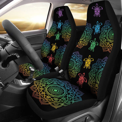 Sea Turtle Trip Colorful - Car Seat Covers - the ocean vibe Ocean Apparel