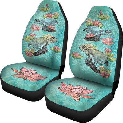 Lotus Sea Turtle - Car Seat Covers - the ocean vibe Ocean Apparel
