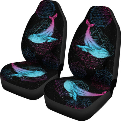 Sacred Geometry Whale - Car Seat Covers