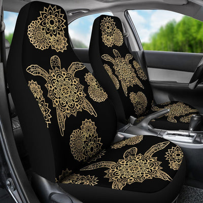 Golden Sea Turtle - Car Seat Covers - the ocean vibe Ocean Apparel