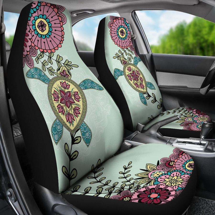 Zen Sea Turtle - Car Seat Covers - the ocean vibe Ocean Apparel