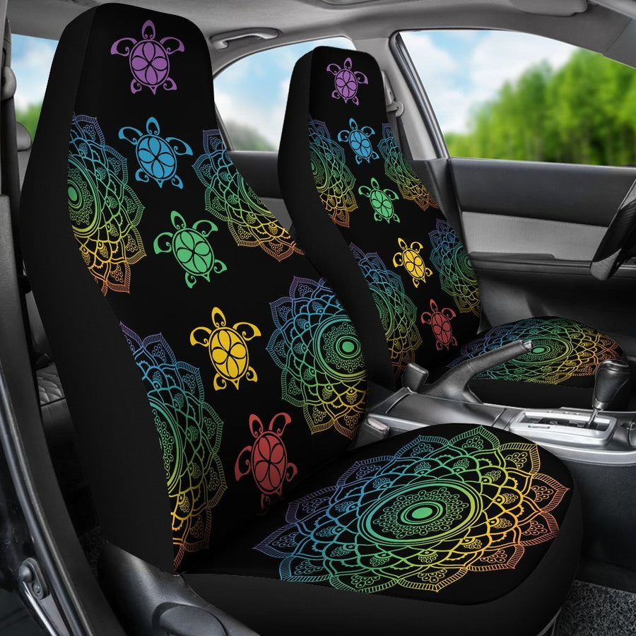 Sea Turtle Trip Colorful - Car Seat Covers