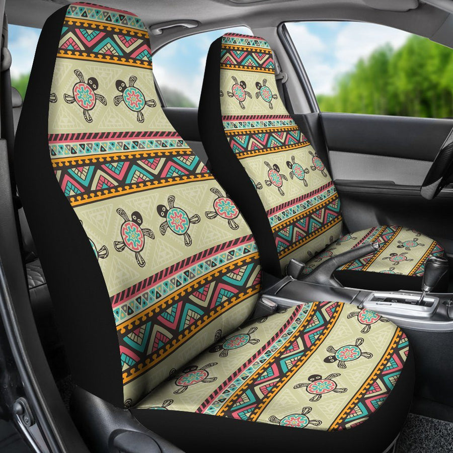 Ethnic Colorful Sea Turtle - Car Seat Covers