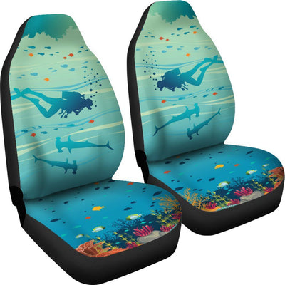 Underwater - Car Seat Covers - the ocean vibe Ocean Apparel