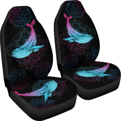 Sacred Geometry Whale - Car Seat Covers - the ocean vibe Ocean Apparel