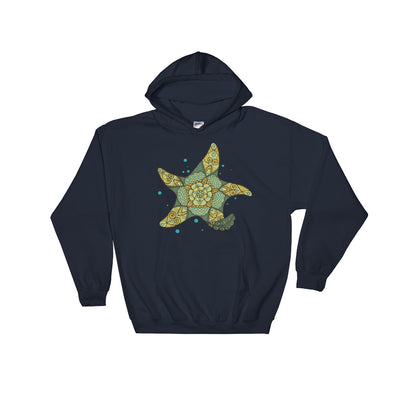 Bubble Starfish - Women's Hooded Sweatshirt
