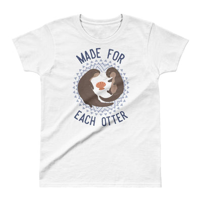 Made For Each Otter - Women's T-shirt - the ocean vibe Ocean Apparel