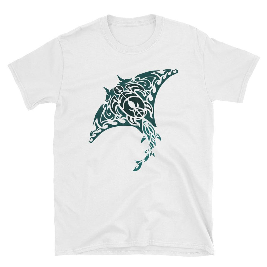 Tribal Manta Ray - Men's T-shirt - the ocean vibe Ocean Apparel