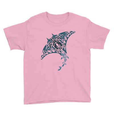 Tribal Manta Ray - Kid's T-Shirt - the ocean vibe Ocean Apparel