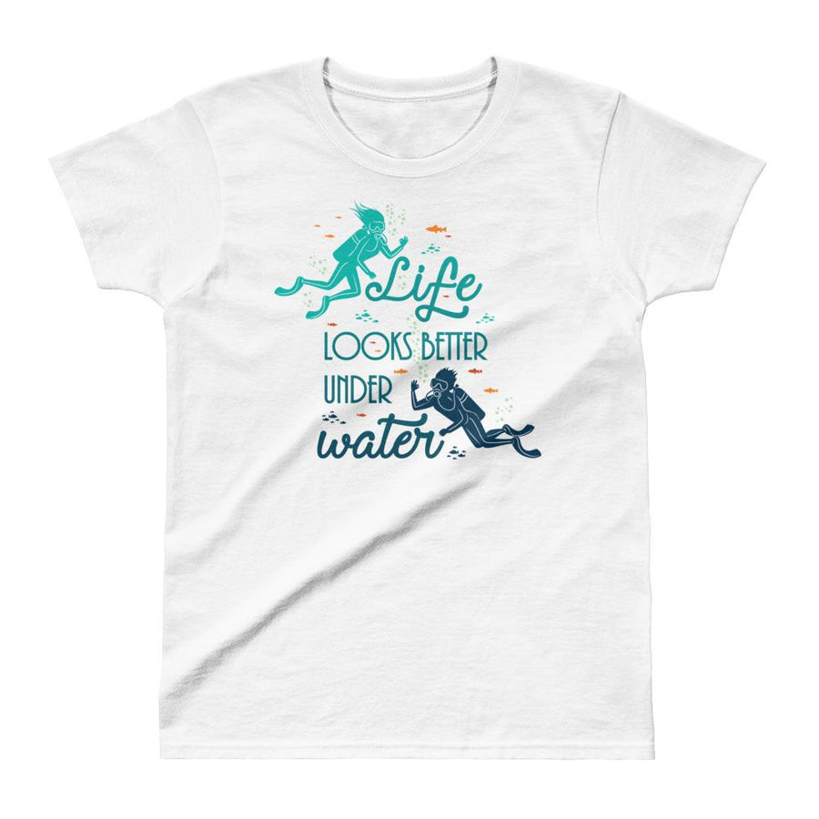 Under Water - Women's T-shirt - the ocean vibe Ocean Apparel