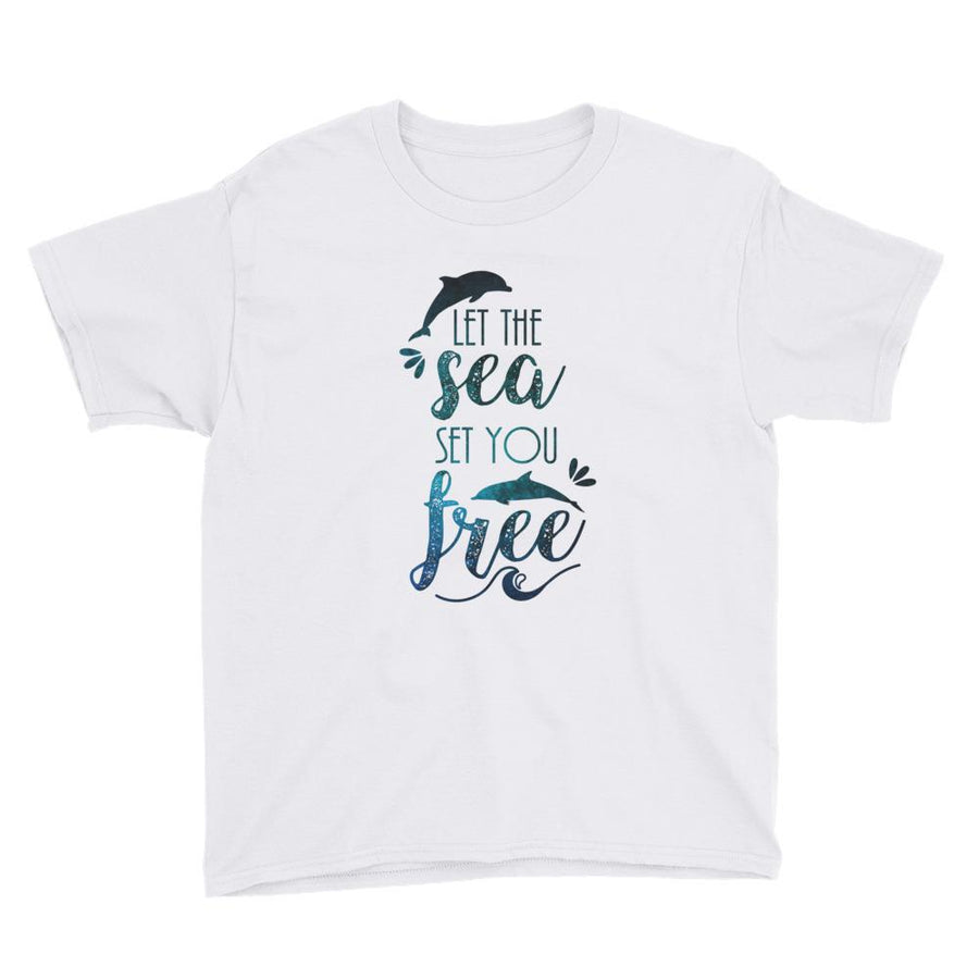 Let The Sea - Kid's T-Shirt - the ocean vibe Ocean Apparel