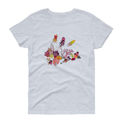 Coral reef & Jellyfish - Women's T-shirt