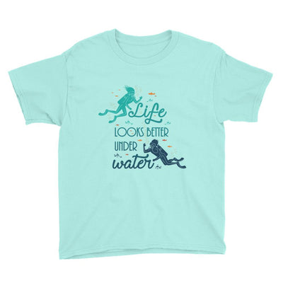 Under Water - Kid's T-shirt - the ocean vibe Ocean Apparel