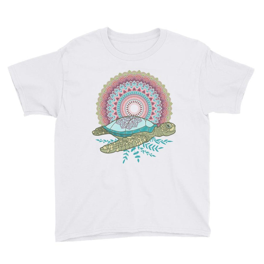 Mandala Turtle - Kid's T-Shirt - the ocean vibe Ocean Apparel