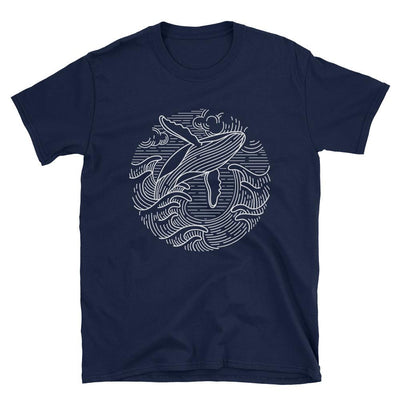Wavy Whale - Men's T-Shirt - the ocean vibe Ocean Apparel