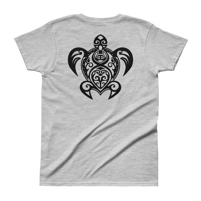 Maori Sea Turtle - Women's T-shirt - the ocean vibe Ocean Apparel