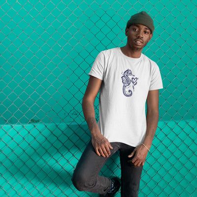 Midnight Seahorse - Men's T-shirt