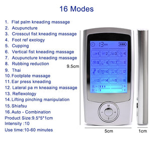 Body massage electric muscle stimulator EMS electronic pulse massager, physical therapy