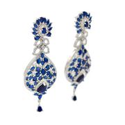 CZ & Sapphire Blue Earrings - Elegant-Heritage-Finds