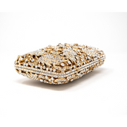 Gold Leaf Layered Clutch - Elegant Heritage Finds