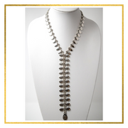 Tribal Oval Zipper Style Necklace - Elegant Heritage Finds