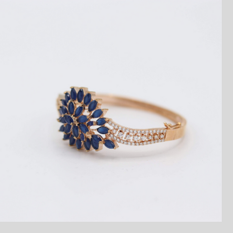 Blue-Leaf Bangle - Elegant-Heritage-Finds