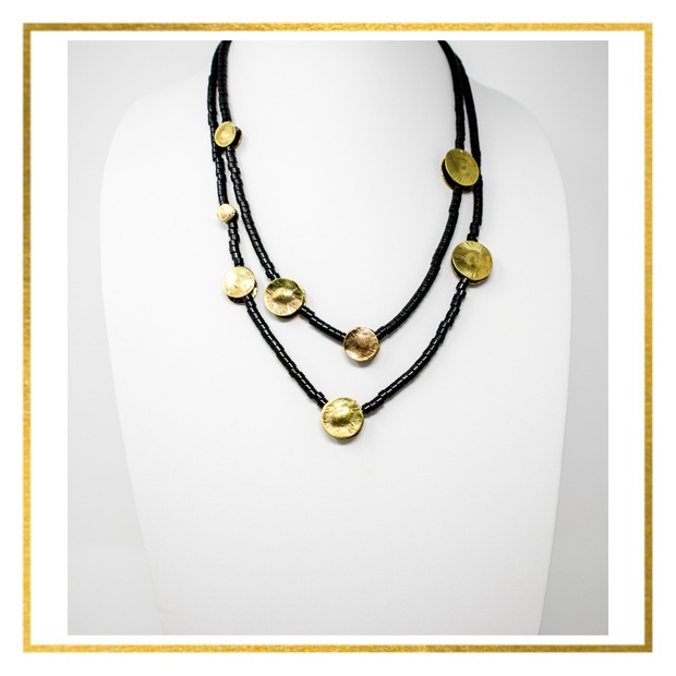 Tribal Bronze Circles Necklace - Elegant Heritage Finds