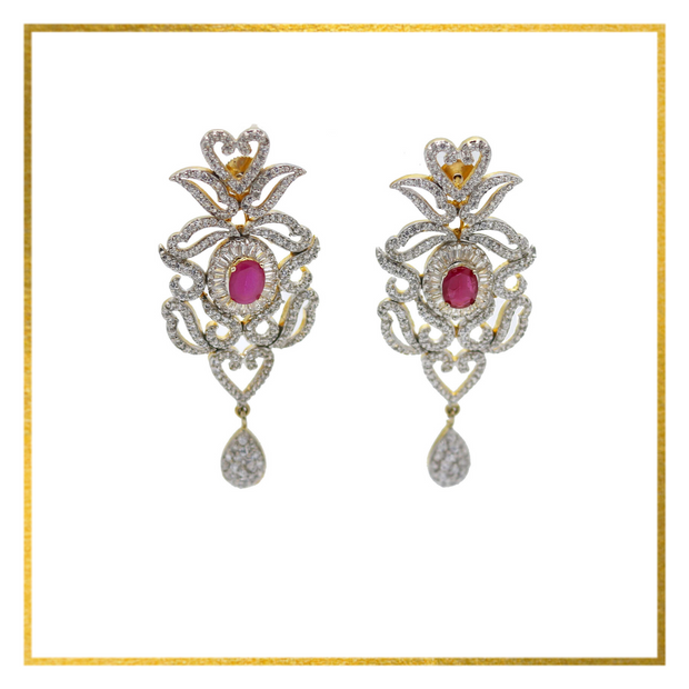 Ruby Rose Earrings - Elegant-Heritage-Finds