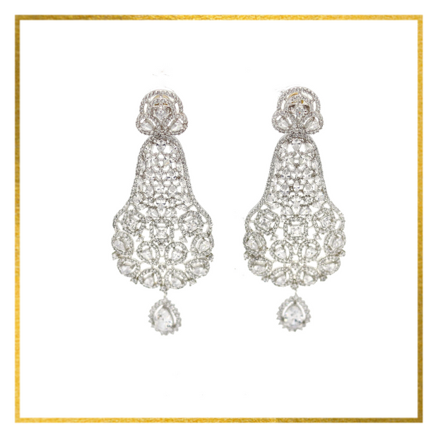 CZ Floral Earrings - Elegant-Heritage-Finds